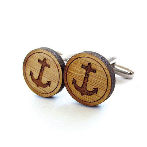 Ice Hockey Wooden Cufflinks