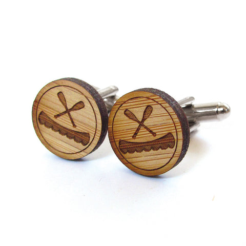 Wise Owl Wooden Cufflinks