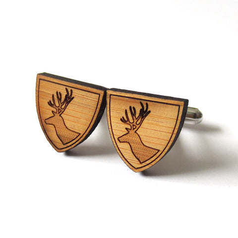 Anchor Wooden Cufflinks