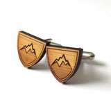 West Coast Mountain Cufflinks - Crest