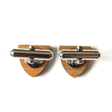 WISE OWL WOODEN CUFFLINKS - CREST