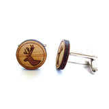 Deer Stag Wooden Cufflinks