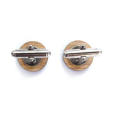 Canadian Curling Wooden Cufflinks