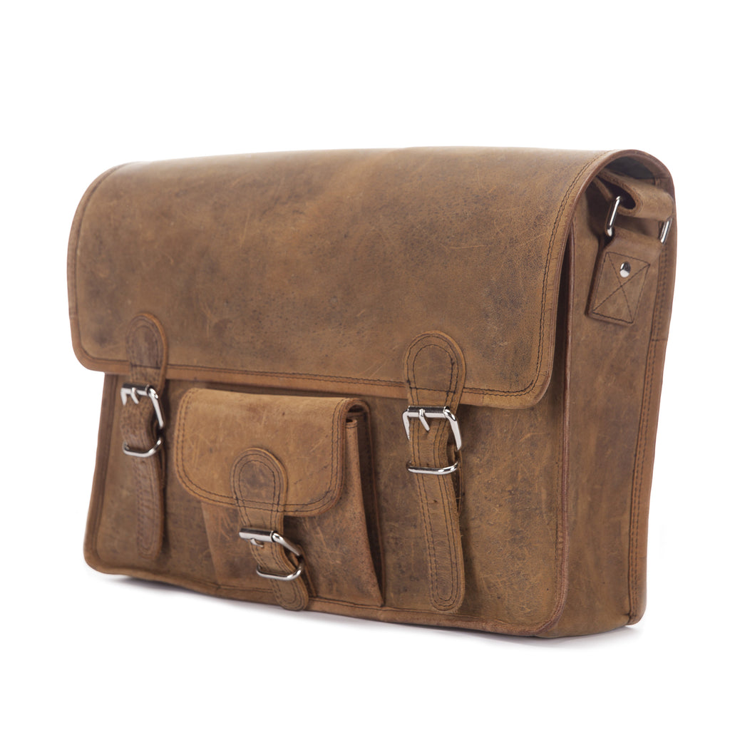 Hawks Distressed Leather Satchel