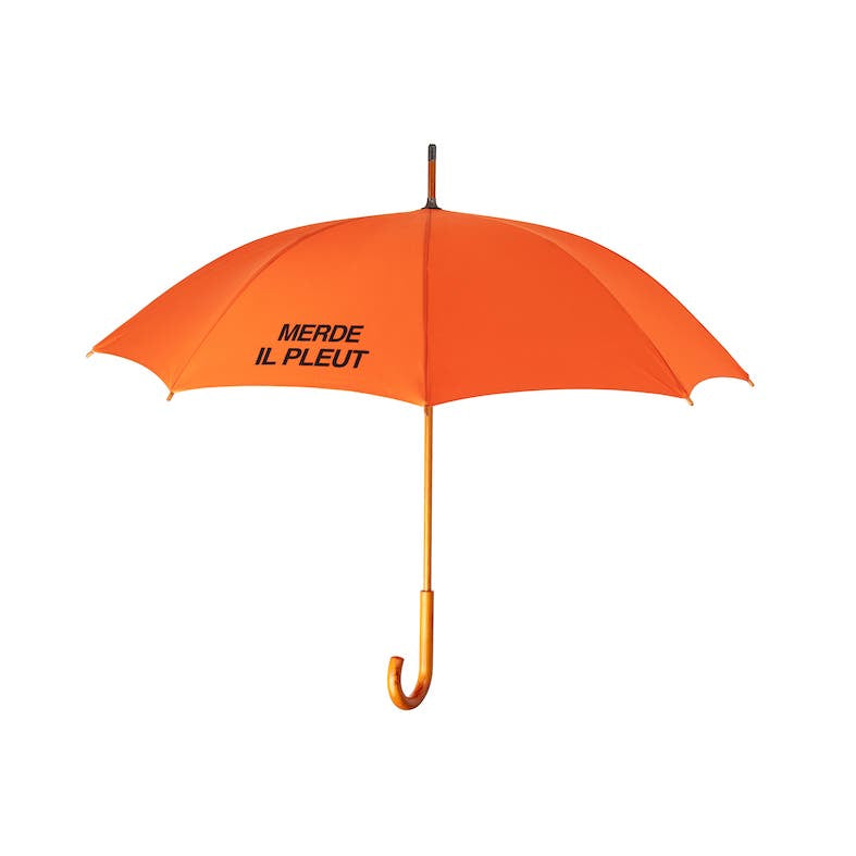 MERDE IL PLEUT Umbrella - Copper Orange