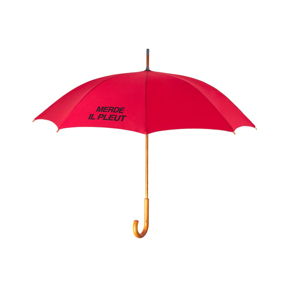 MERDE IL PLEUT Umbrella - Ruby Red