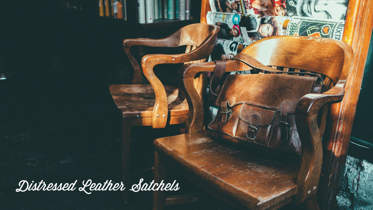 Distressed Leather Satchels
