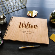 Wedding Guest Book Large Couple Name