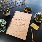Wedding Guest Book - Wooden Book