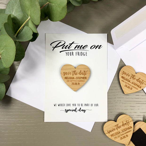 Personalised 'Save The Date' Magnet Cards - Modern