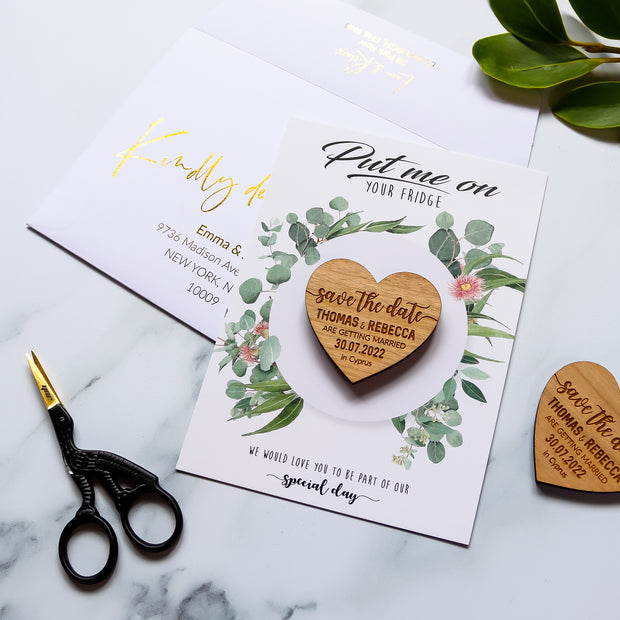 Personalised 'Save The Date' Magnet Cards - Botanical