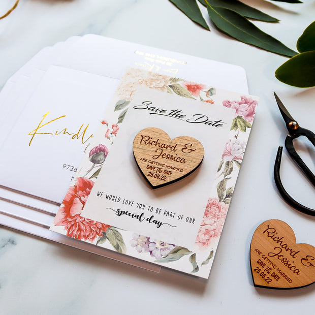 Personalised 'Save The Date' Magnet Cards - Floral
