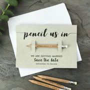SAMPLE - Pencil Us In Save the Date with Kraft card