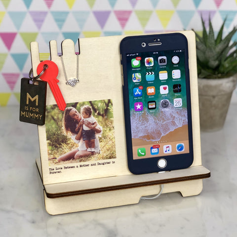 Docking Station - Personalised Docking Station With Photo & Text