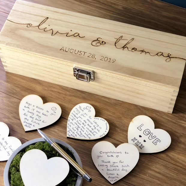 Guest Book - Personalised Rustic Wedding Guest Book Alternative