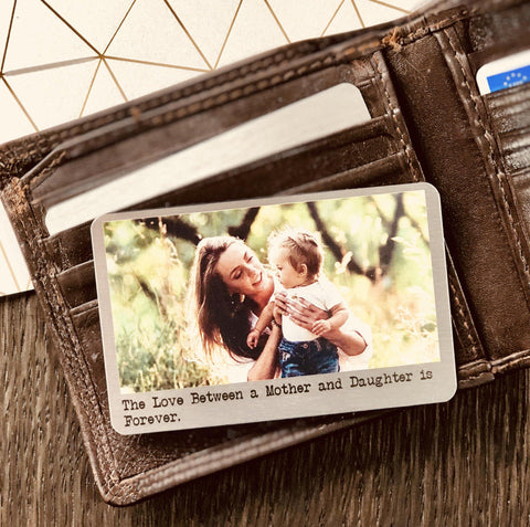 Wallet Insert - Personalised Wallet Metal Photo Card