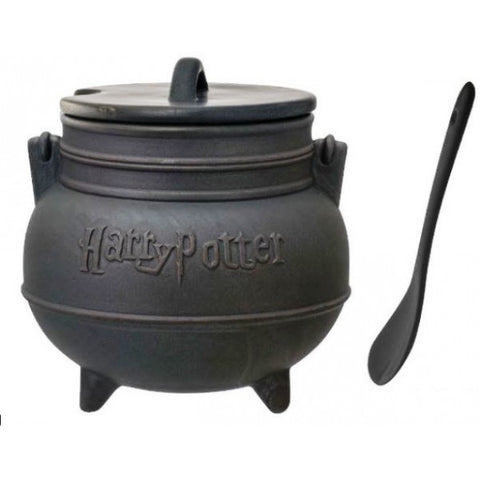 Harry Potter Black Cauldron Ceramic Soup Mug with Spoon, Monogram, The Fandom Frenzy, Amazon.com