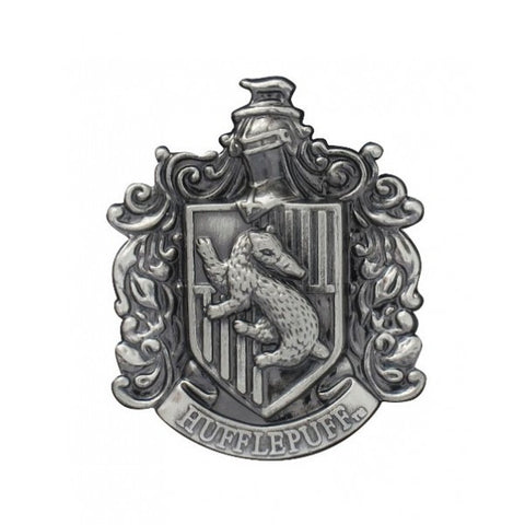 Harry Potter Hufflepuff Crest Pewter Lapel Pin, Monogram, The Fandom Frenzy, Amazon.com