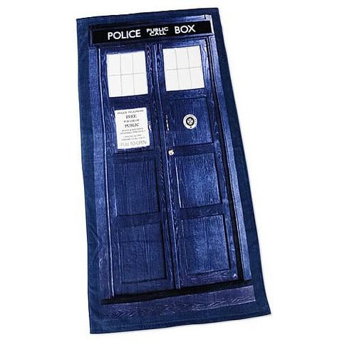 Doctor Who TARDIS Cotton Beach Towel, Robe Factory, The Fandom Frenzy, Amazon.com
