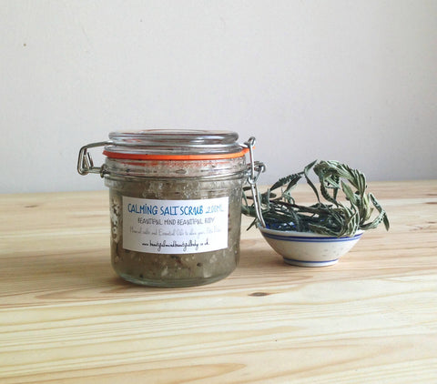 Calming Salt Scrub, 200ml.