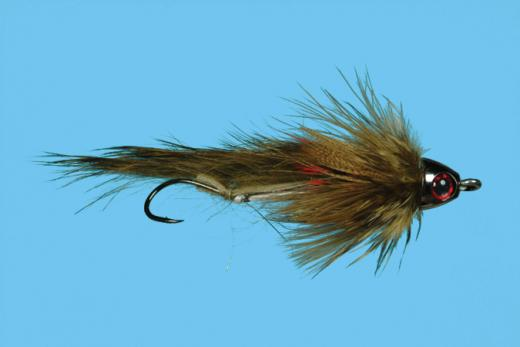 Sculpzilla Olive Articulated Cone Head Streamer Fly Size 4 or 8 Solitude Fly Co.