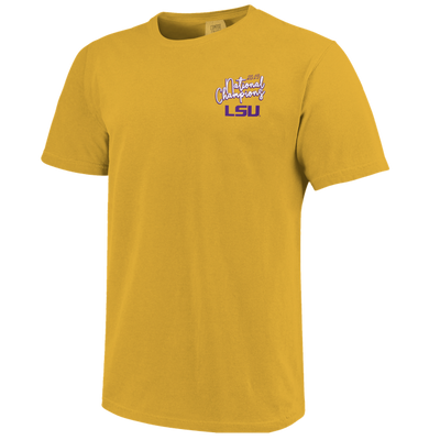 "LSU ""Football and Bows"" Championship Tee"