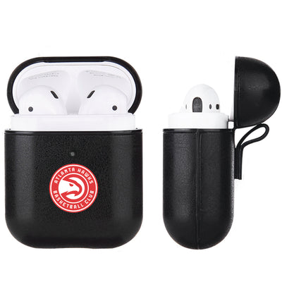 Atlanta Hawks Black Apple Air Pod Leather Case