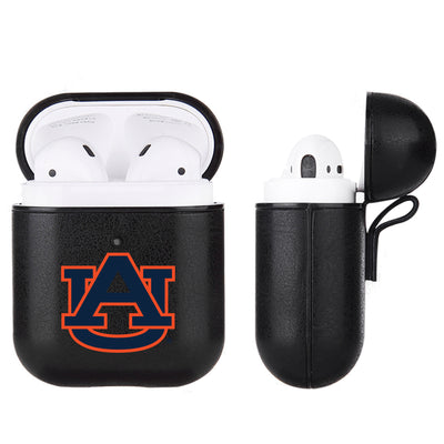 Auburn Tigers Primary Mark design Black Apple Air Pod Leather Case