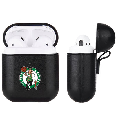 Boston Celtics Black Apple Air Pod Leather Case