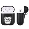 Butler Bulldogs Primary Mark design Black Apple Air Pod Leather Case