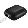 Cal Poly Mustangs Primary Mark design Black Apple Air Pod Leather Case
