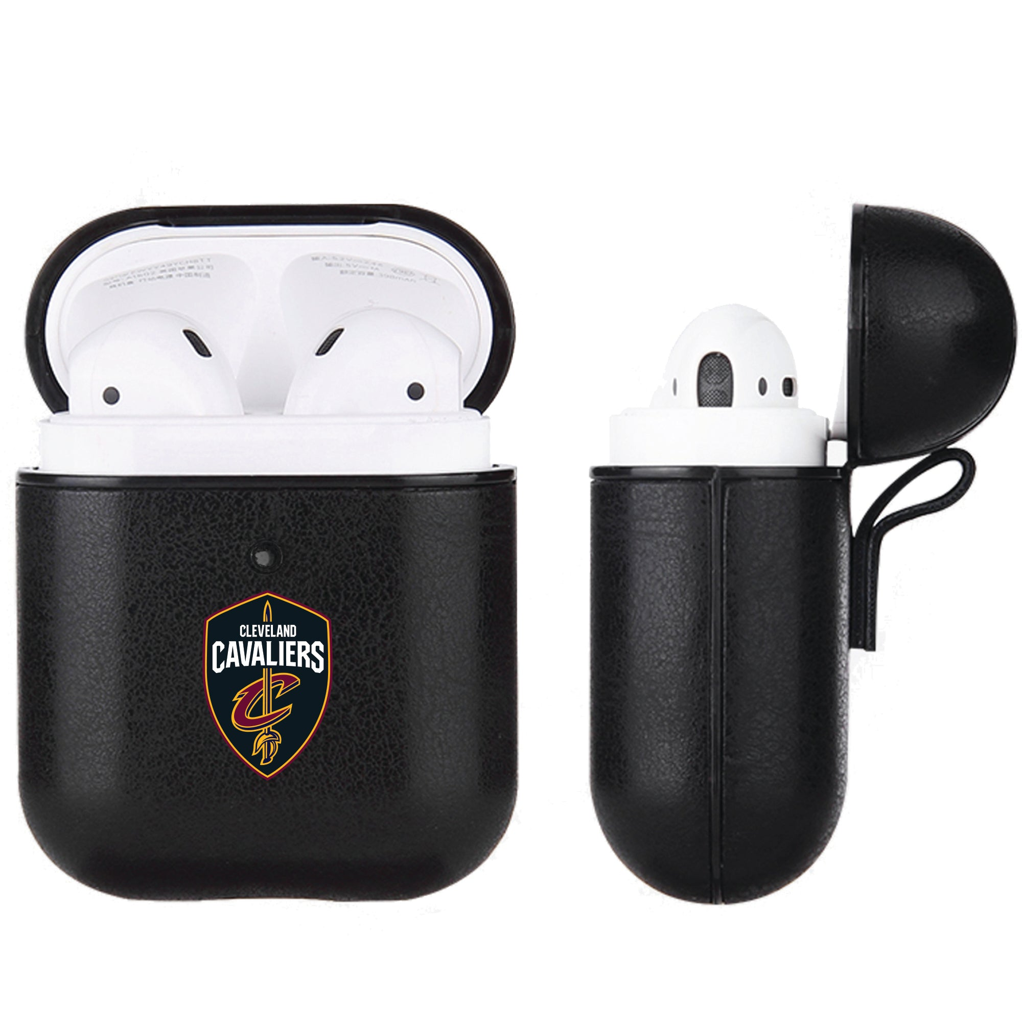 Cleveland Cavaliers Black Apple Air Pod Leather Case