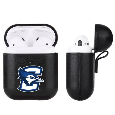 Creighton University Bluejays Primary Mark design Black Apple Air Pod Leather Case