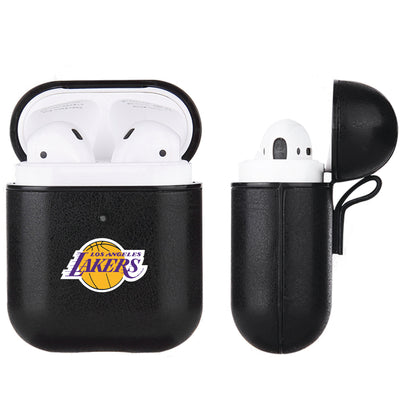 LA Lakers Black Apple Air Pod Leather Case