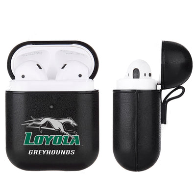 Loyola Univ Of Maryland Hounds Primary Mark design Black Apple Air Pod Leather Case