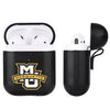 Marquette Golden Eagles Primary Mark design Black Apple Air Pod Leather Case