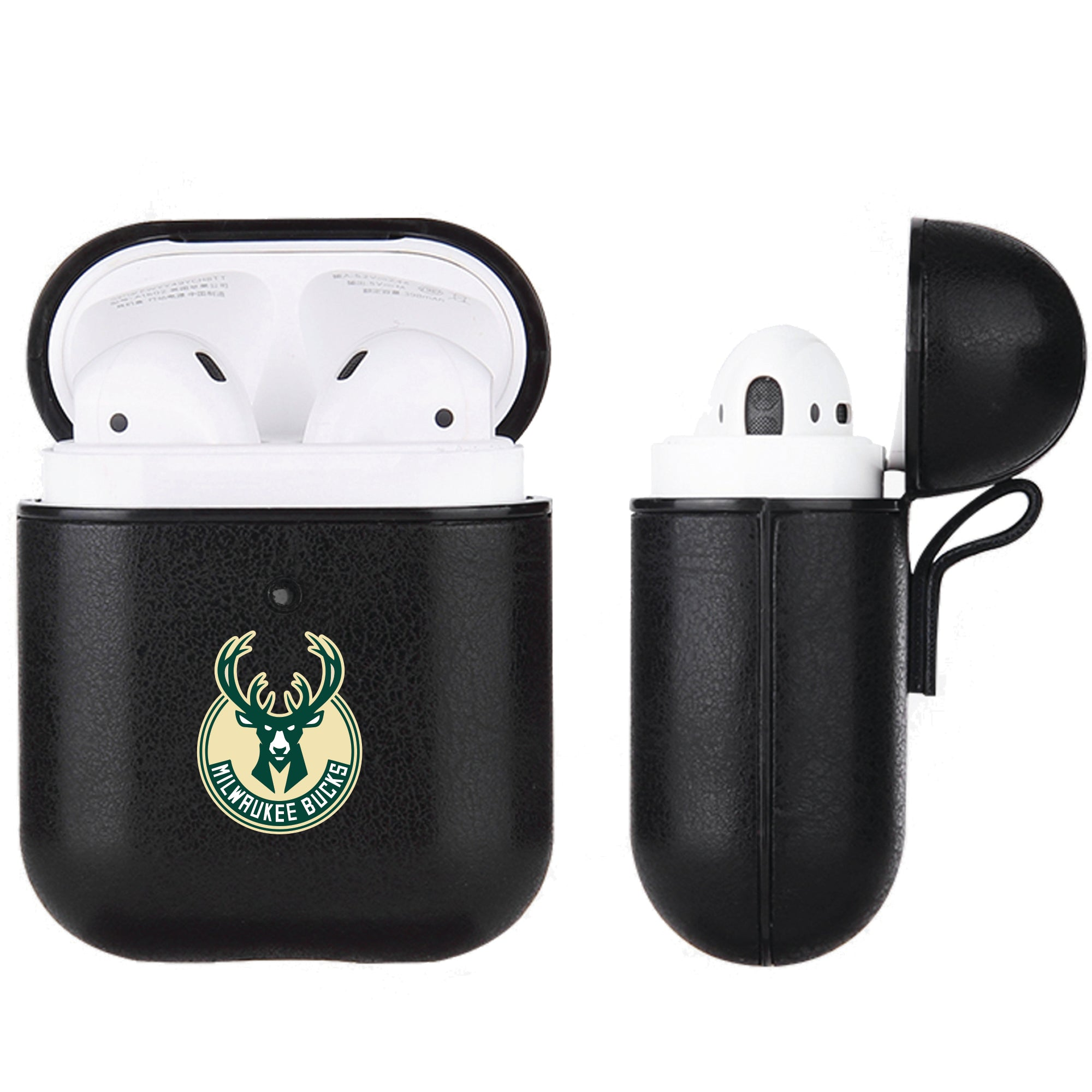 Milwaukee Bucks Black Apple Air Pod Leather Case