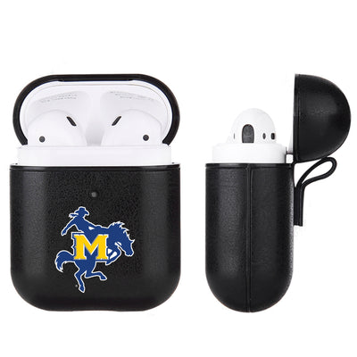 McNeese State Cowboys Primary Mark design Black Apple Air Pod Leather Case