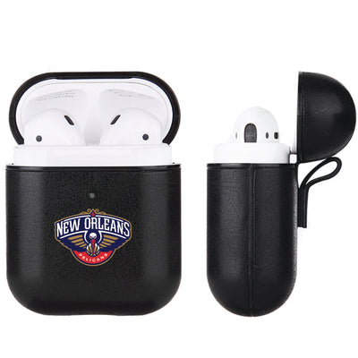 New Orleans Pelicans Black Apple Air Pod Leather Case