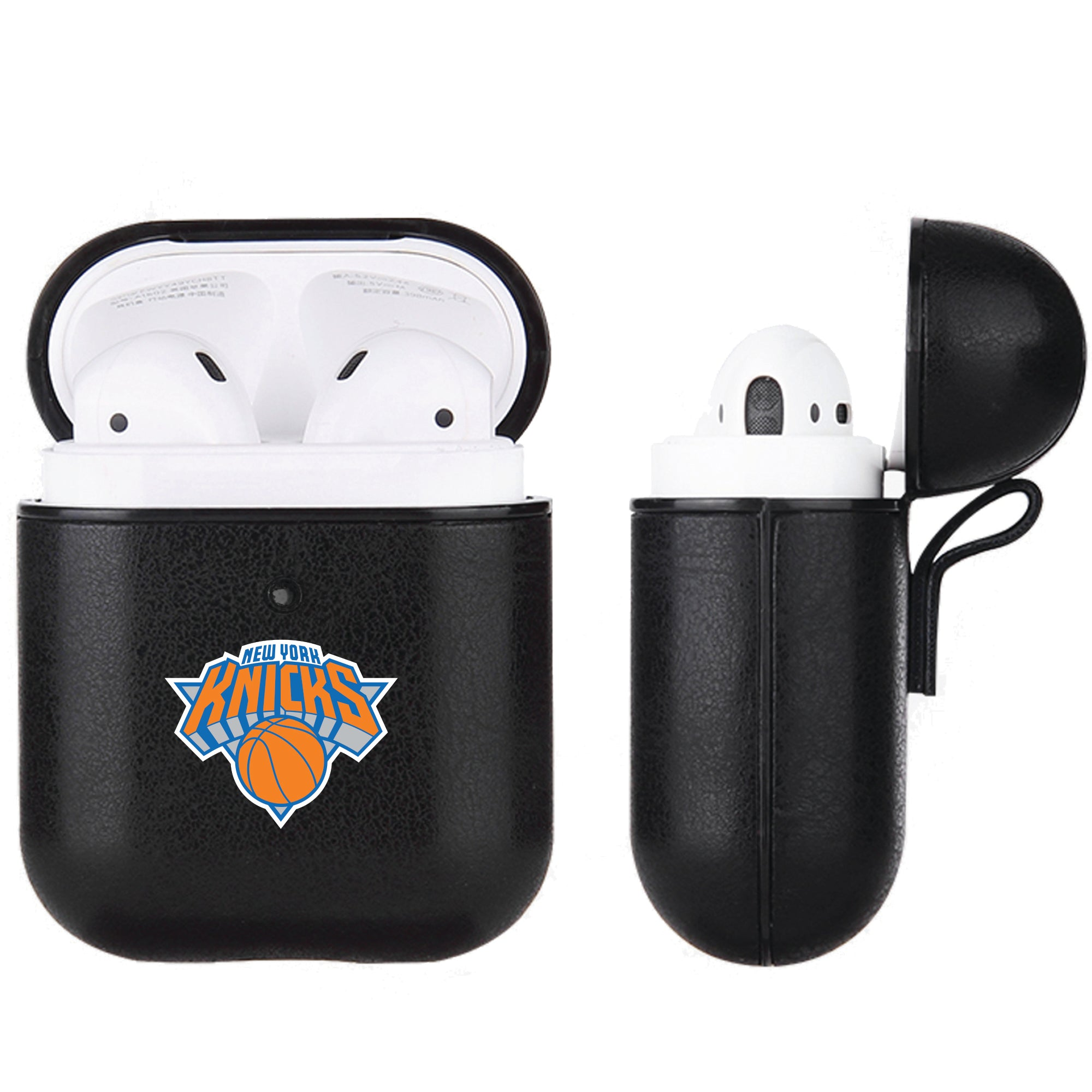 New York Knicks Black Apple Air Pod Leather Case