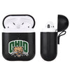 Ohio University Bobcats Primary Mark design Black Apple Air Pod Leather Case