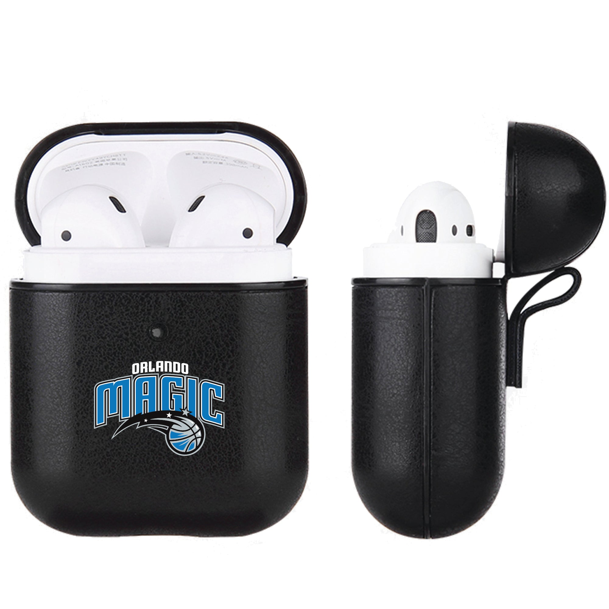 Orlando Magic Black Apple Air Pod Leather Case