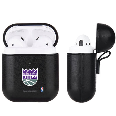 Sacramento Kings Black Apple Air Pod Leather Case