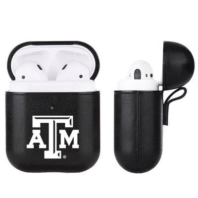 Texas A&M Aggies Primary Mark design Black Apple Air Pod Leather Case