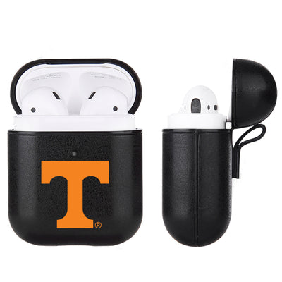 Tennessee Vols Primary Mark design Black Apple Air Pod Leather Case