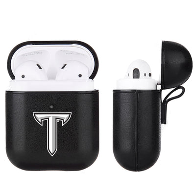 Troy Trojans Primary Mark design Black Apple Air Pod Leather Case