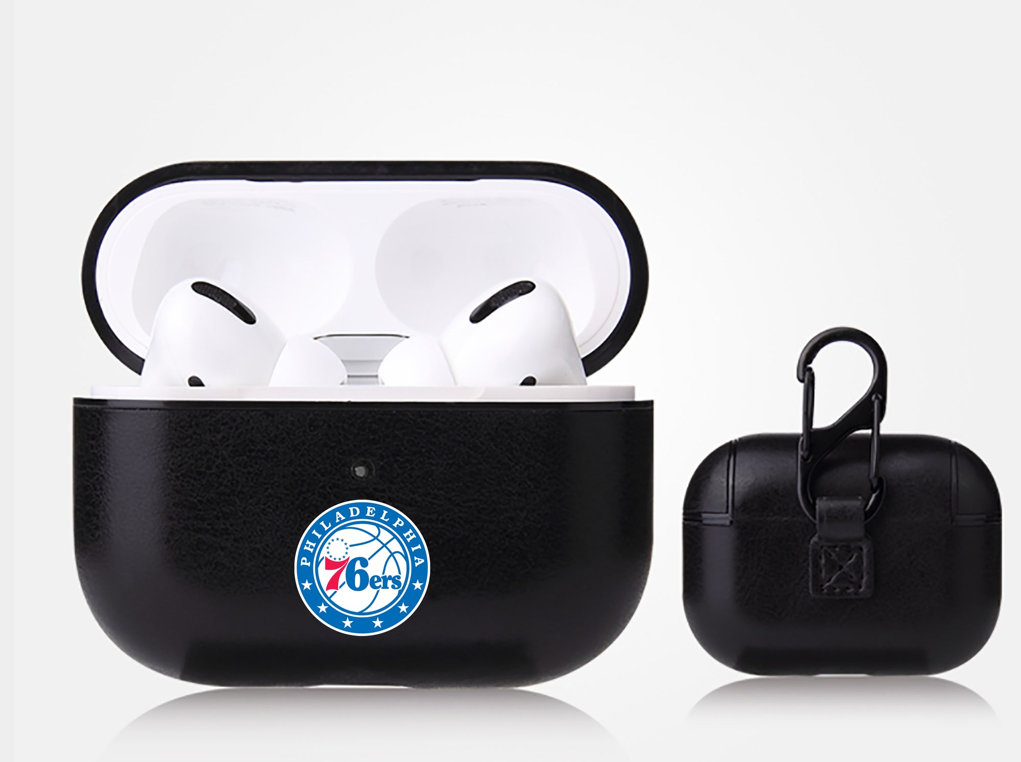 Philadelphia 76ers Black Apple Air Pod Pro Leatherette