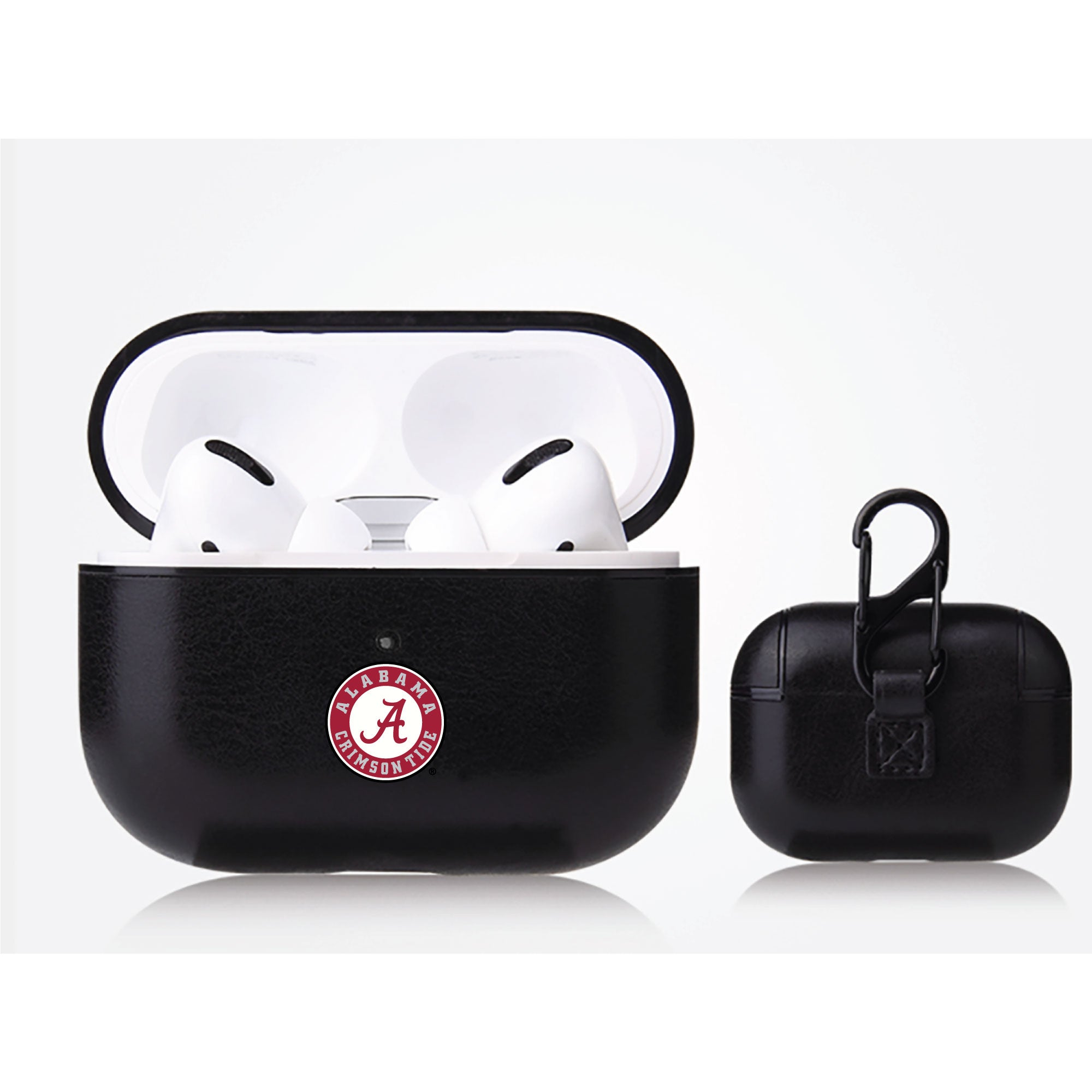 Alabama Crimson Tide Primary Mark design Black Apple Air Pod Pro Leatherette