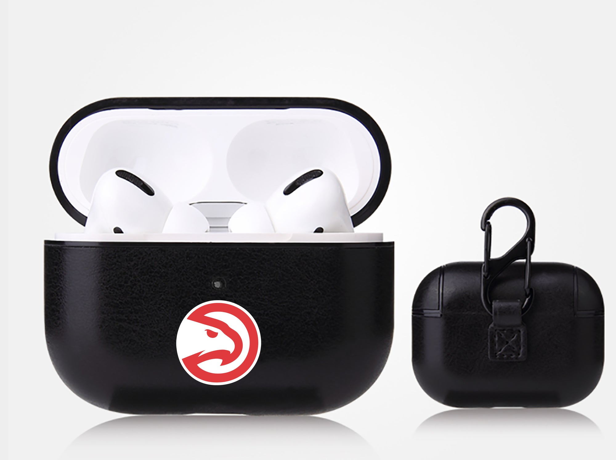 Atlanta Hawks Black Apple Air Pod Pro Leatherette