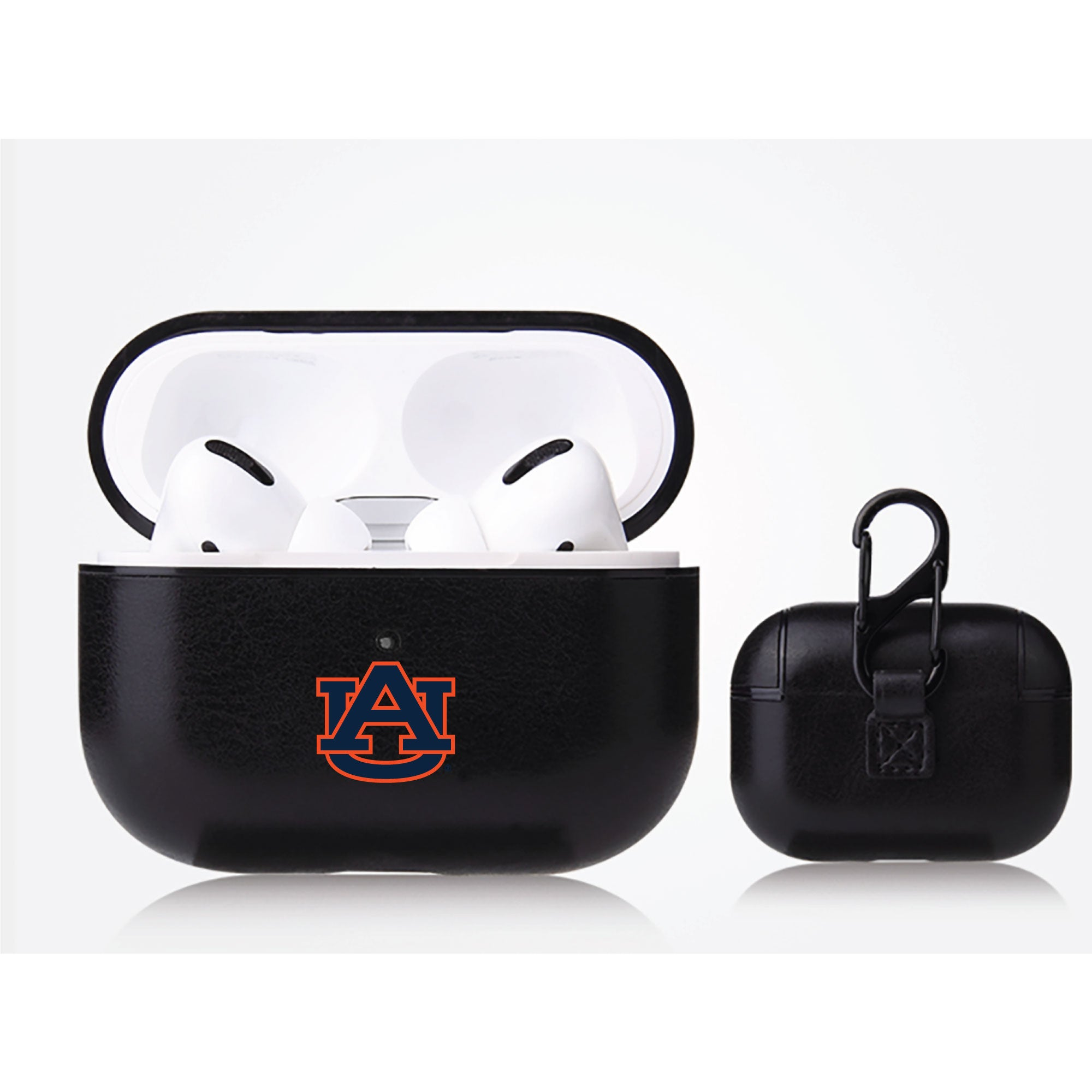 Auburn Tigers Primary Mark design Black Apple Air Pod Pro Leatherette
